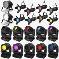 theatre lightning equipment stage light 3D model