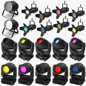 theatre lightning equipment stage light 3D model