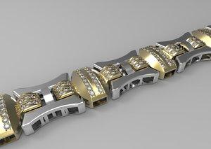 bracelet chain 3d model