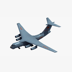 3D model il-76 candid chinese
