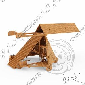 3d leonardo da siege machine model