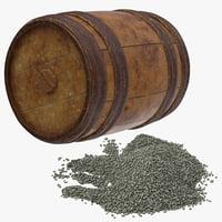 3D gunpowder keg pile