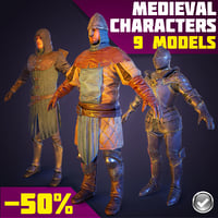 Real-Time Medieval Characters Collection