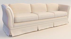 sofa pleated skirt 3D model