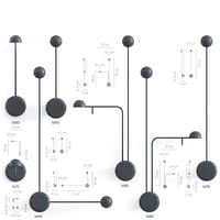 3d vibia pin wall model