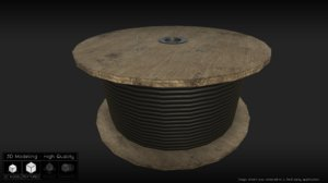 cable wheel 3d model