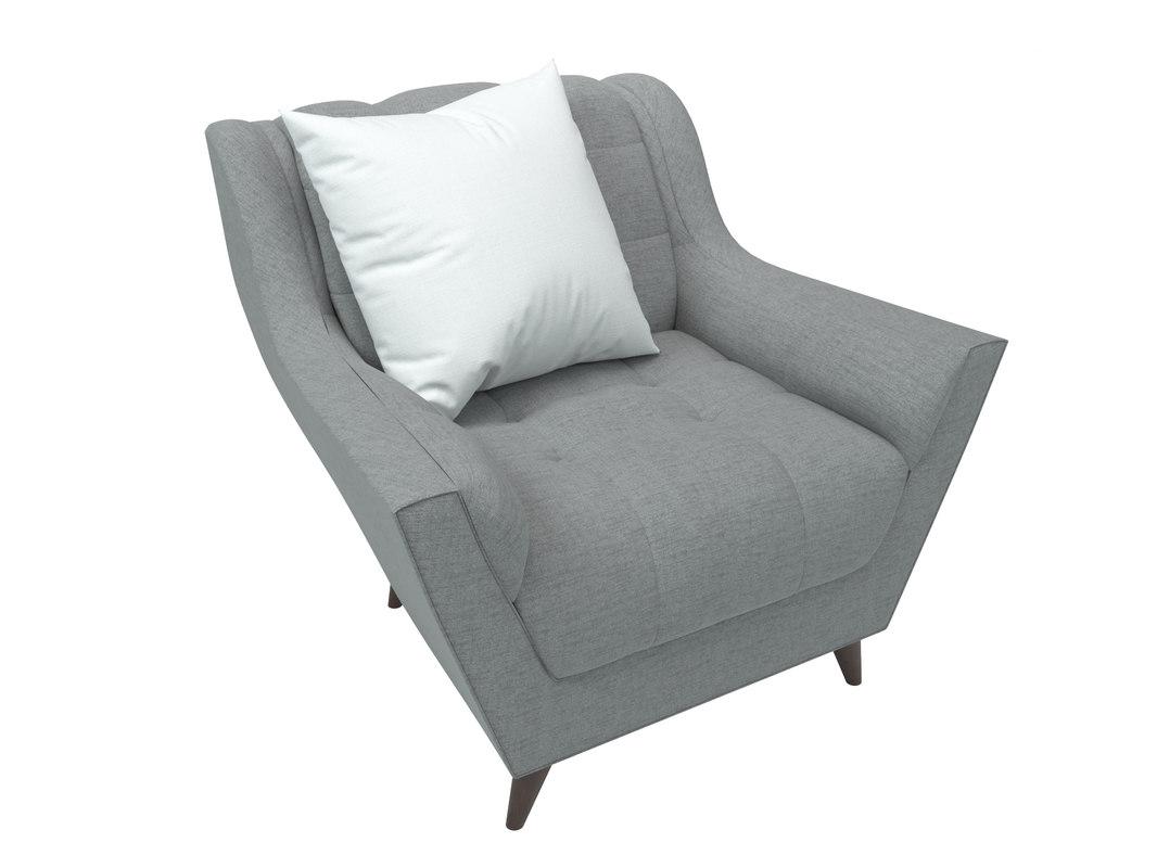 3d model of fitzgerald chair joybird