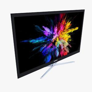 3d model flat panel tv samsung