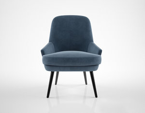 3d walter knoll 375 chair model