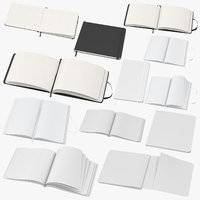 moleskine sketchbooks 3D model