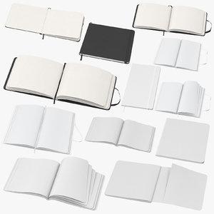 moleskine sketchbooks 3D model