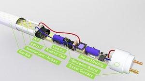 bulb tube led model