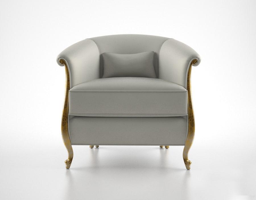 christopher guy greta armchair 3d model