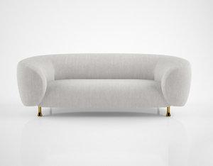 max kelly wearstler lucien sofa