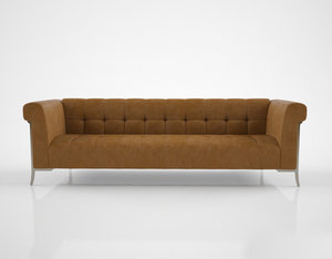 holly hunt sheffield sofa 3d model