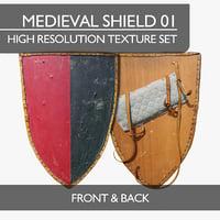 Medieval shield 01