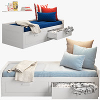 3d model ikea brimnes 2 bed