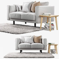 3d model two-seat sofa ikea norsborg