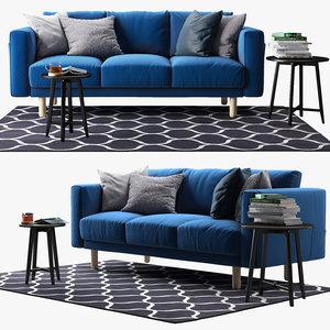 three-seat sofa ikea norsborg 3d ma