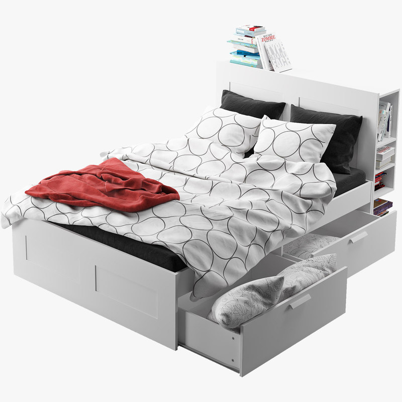 ikea brimnes bed frame 3ds