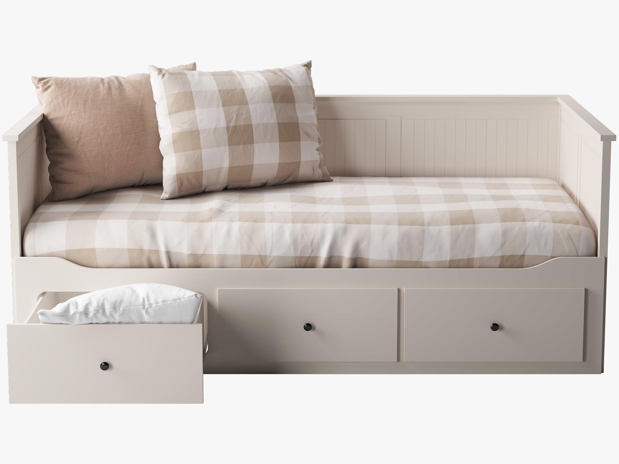 Ikea Hemnes Bedbank.3d Ikea Hemnes Bed 1 Model
