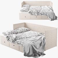 3d ikea hemnes 2 bed