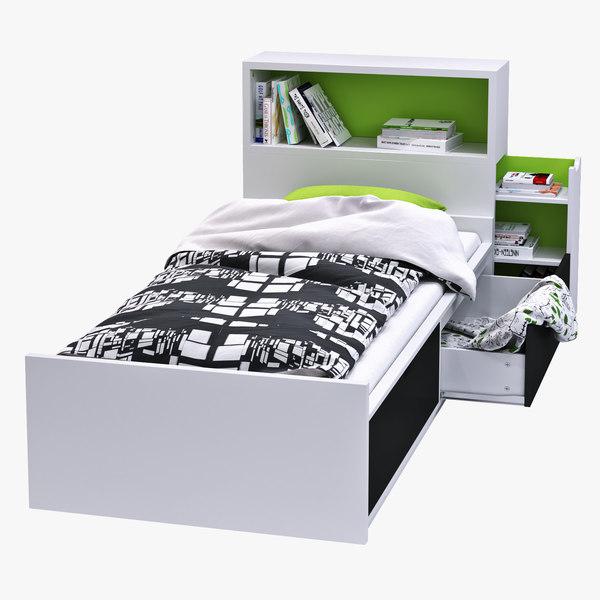 3d bed drawer