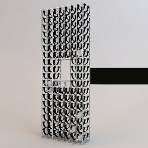 shelf steel 3d max