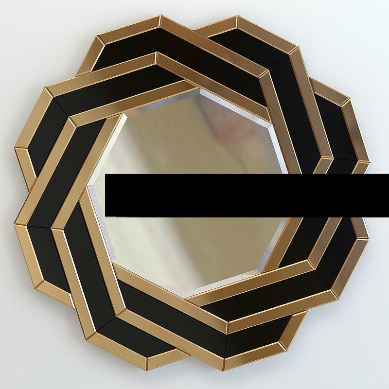 3d mirror eichholtz