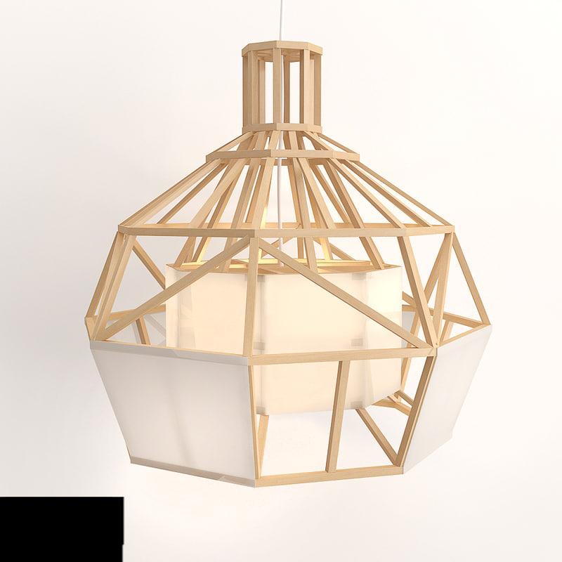 3d model of lamp satori