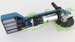 3D interior battery model