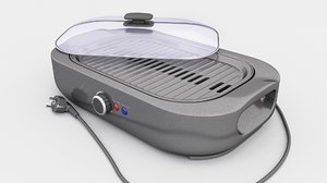 3D model electric grill