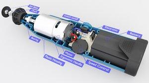 3D model mini battery