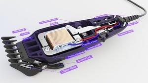 motor clipper 3D