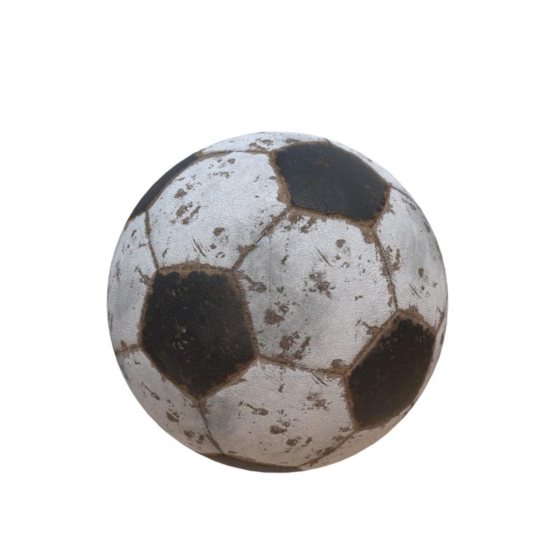 3D ball soccer soccerball