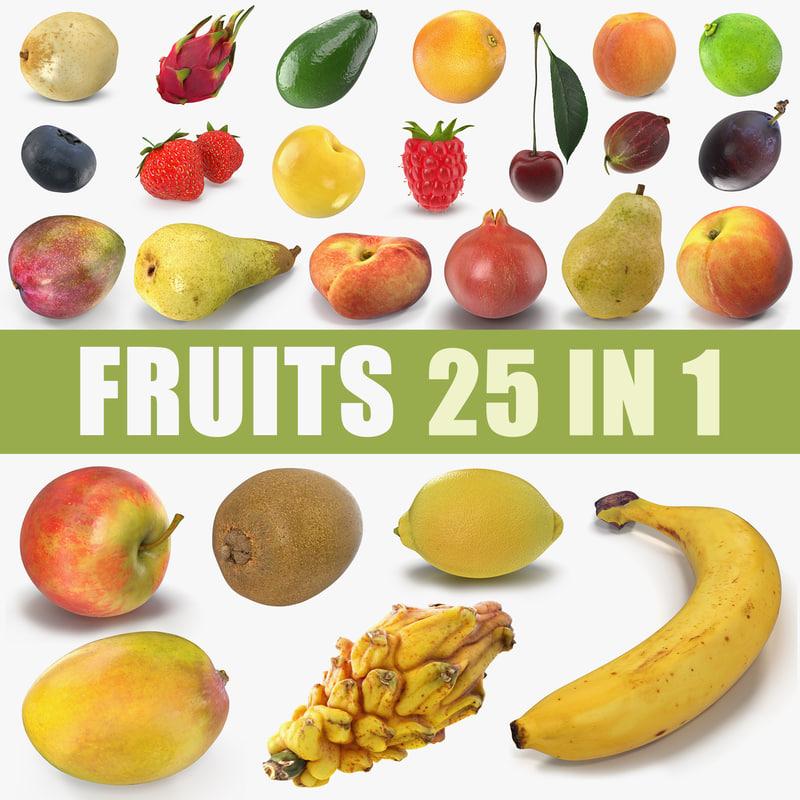 fruits 4 3D model