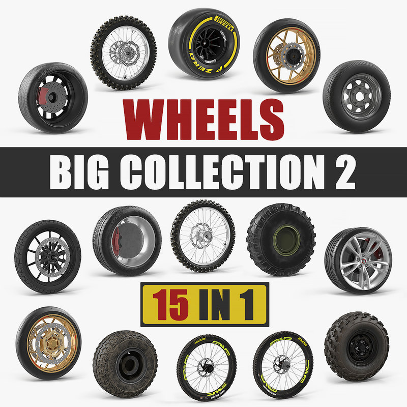 wheels big 2 3D model