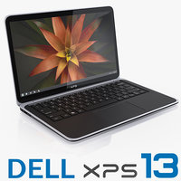 dell xps 13 ultrabook 3d 3ds