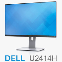 3d model dell ultrasharp 24 monitor
