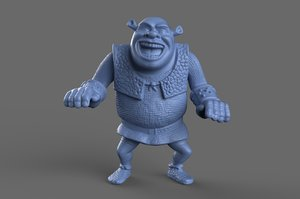 3d model scan shrek toy