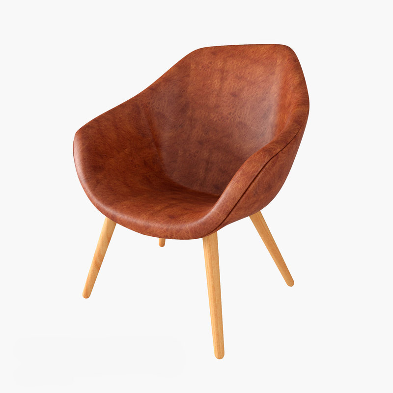 calligaris leather armchair 3d model