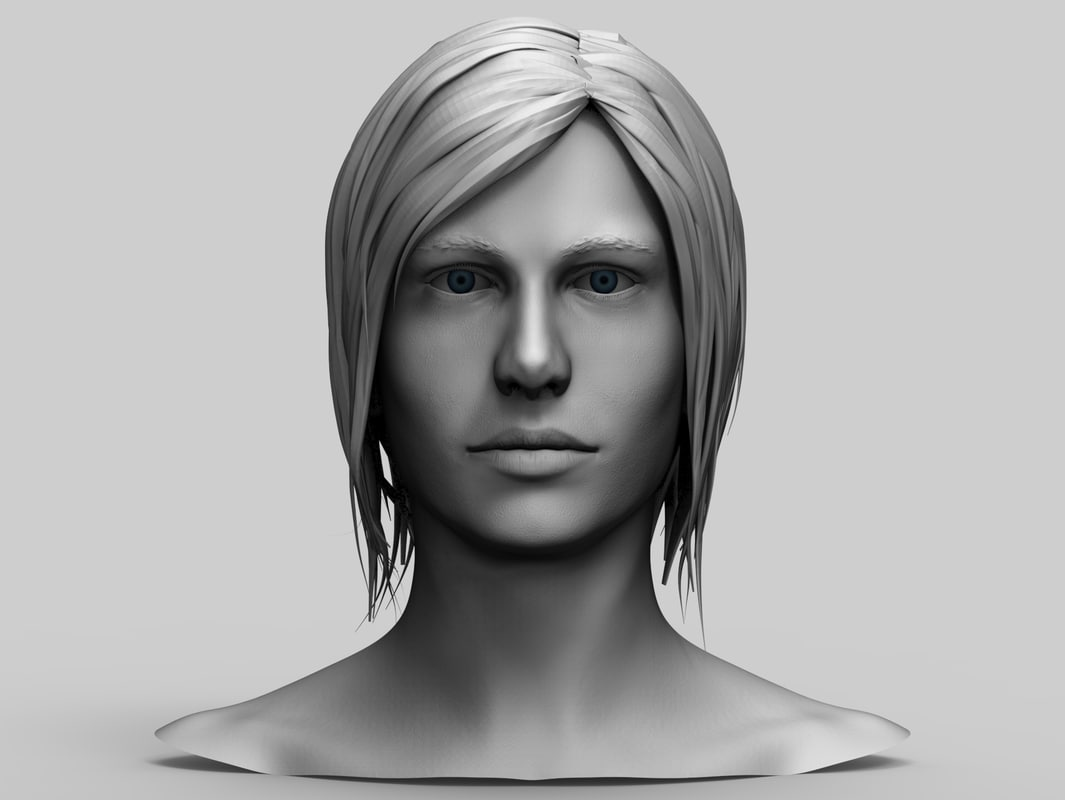 3d model female head