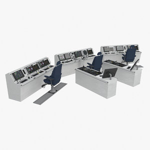 3d ship bridge control room model