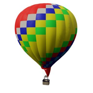 3d realistic air balloon
