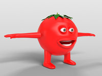 3d tomato character model