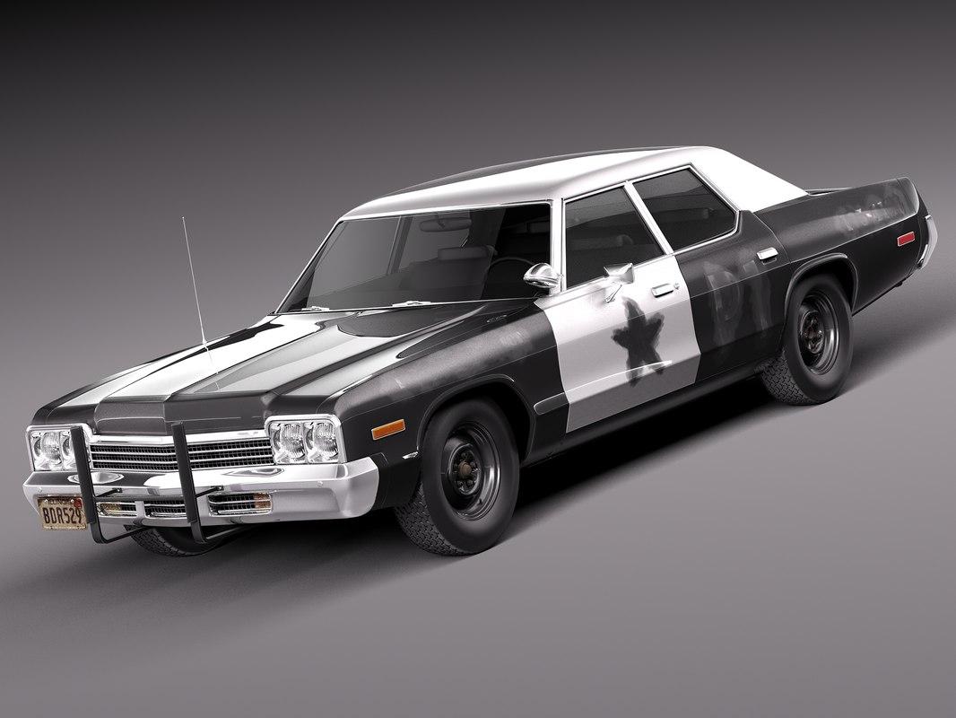 3d dodge car sedan saloon