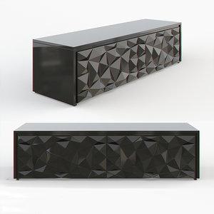 3d model fendi cabinet royal