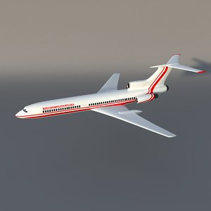 tupolev tu-154 polish 3d model