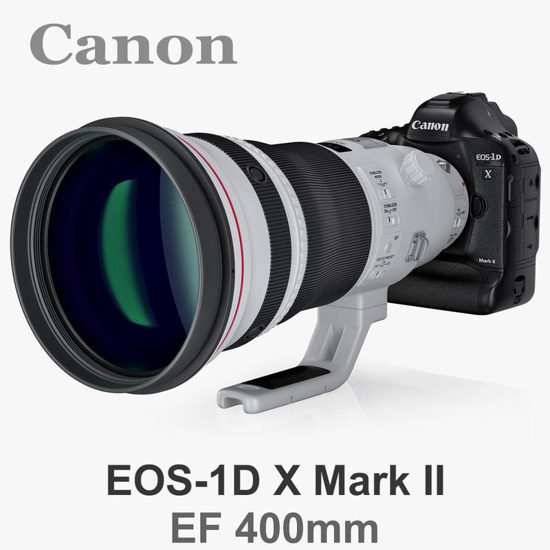 canon eos-1d x mark 3d model