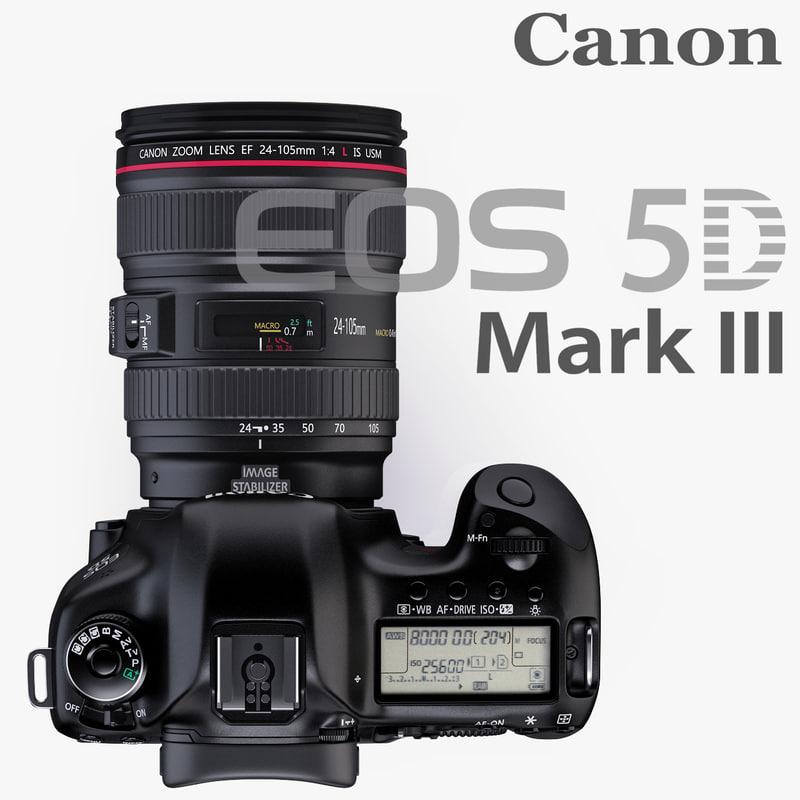 Eos 5d Mark Iii >> 3d Canon Eos 5d Mark Iii